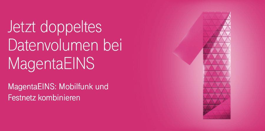 deutsche telekom doppeltes datenvolumen f r magentaeins kunden mit magentamobil tarif. Black Bedroom Furniture Sets. Home Design Ideas