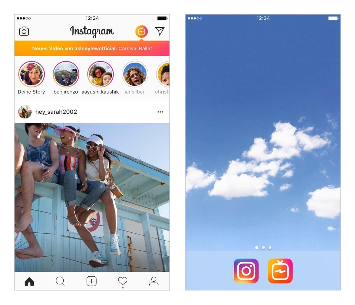 Instagram TV attackiert Youtube: Hochkant-Videos mit bis zu 60 Minuten Laufzeit