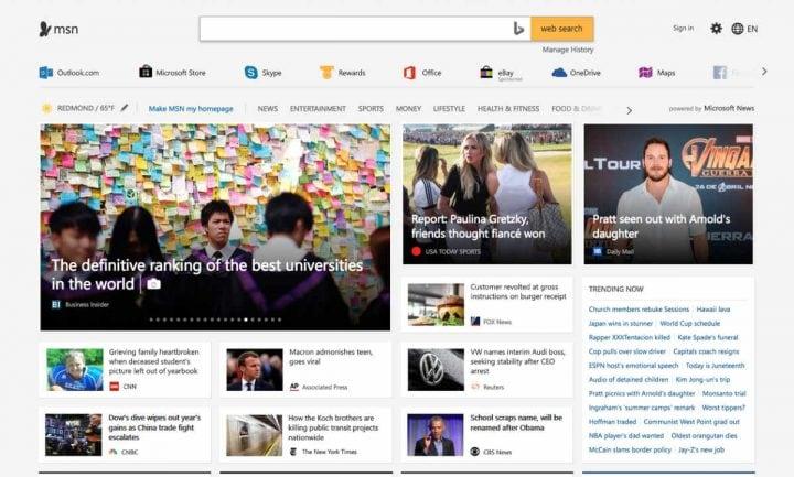 Microsoft Nachrichten