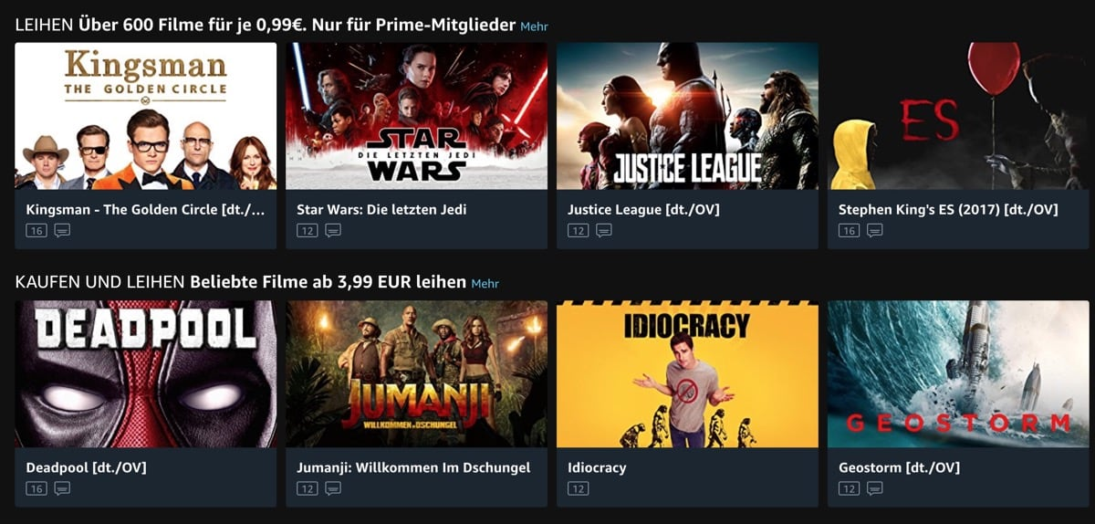Amazon prime film leihen preise