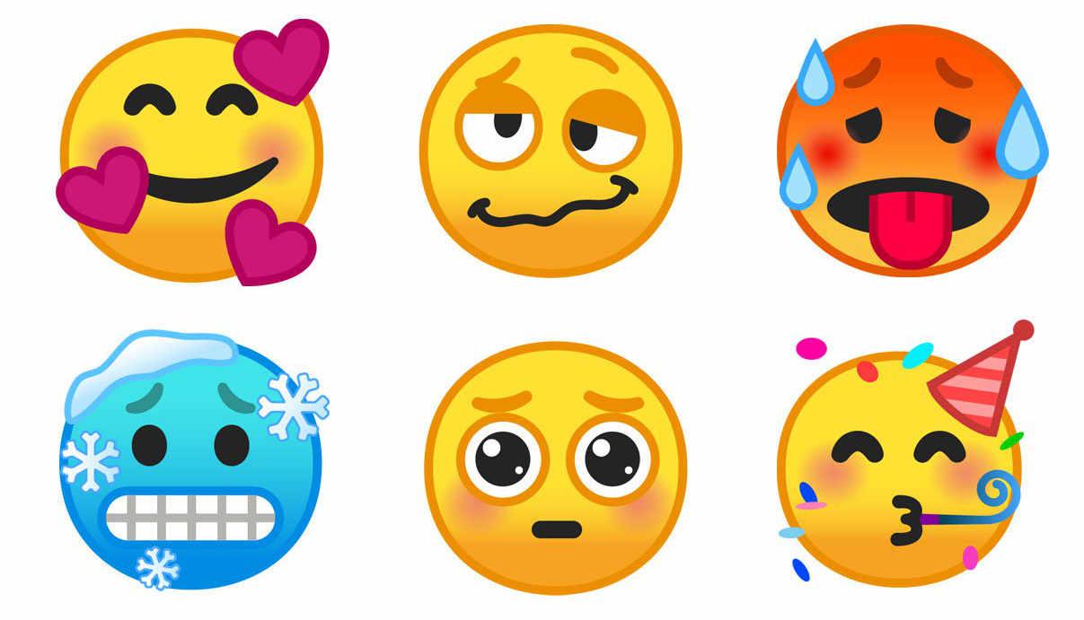 Android 90 Pie überarbeitet Viele Emojis