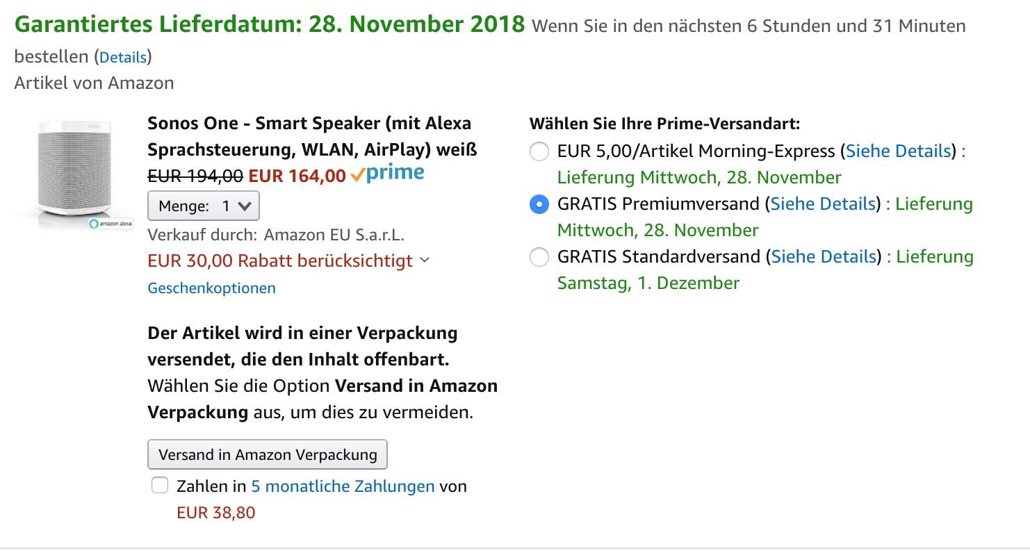 November amazon verkauf