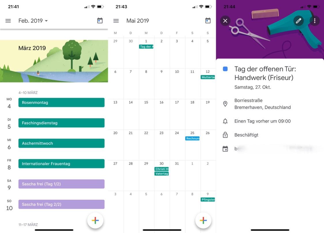 Google Kalender Ios