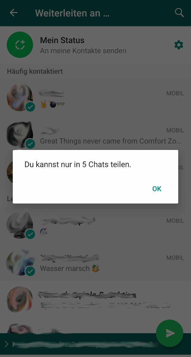 Whatsapp Nur 5 Chats Teilen