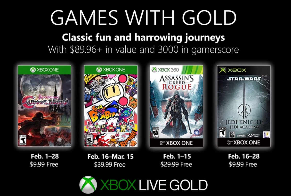 xbox games with gold im februar 2019 mit bloodstained. Black Bedroom Furniture Sets. Home Design Ideas