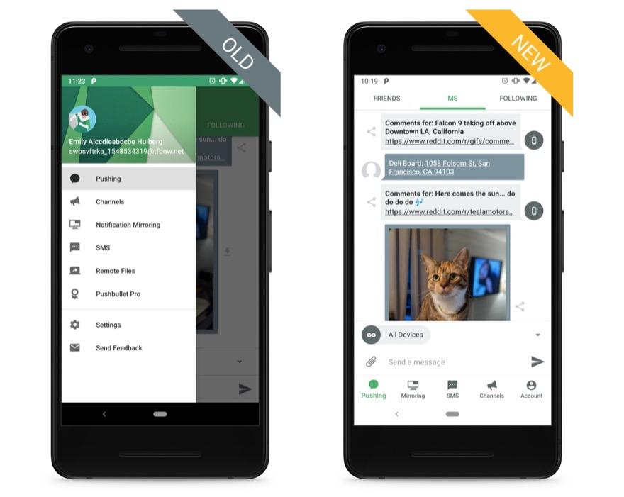 Pushbullet Beta Update Bringt Aktuelles Material Design Und Mehr Dark Mode Nur Fur Pro Version