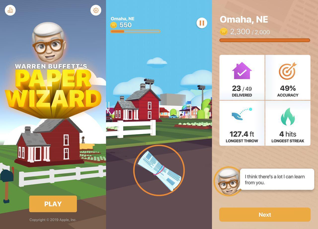 """Apple veröffentlicht iOS-Spiel """"Warren Buffett's Paper Wizard"""""""