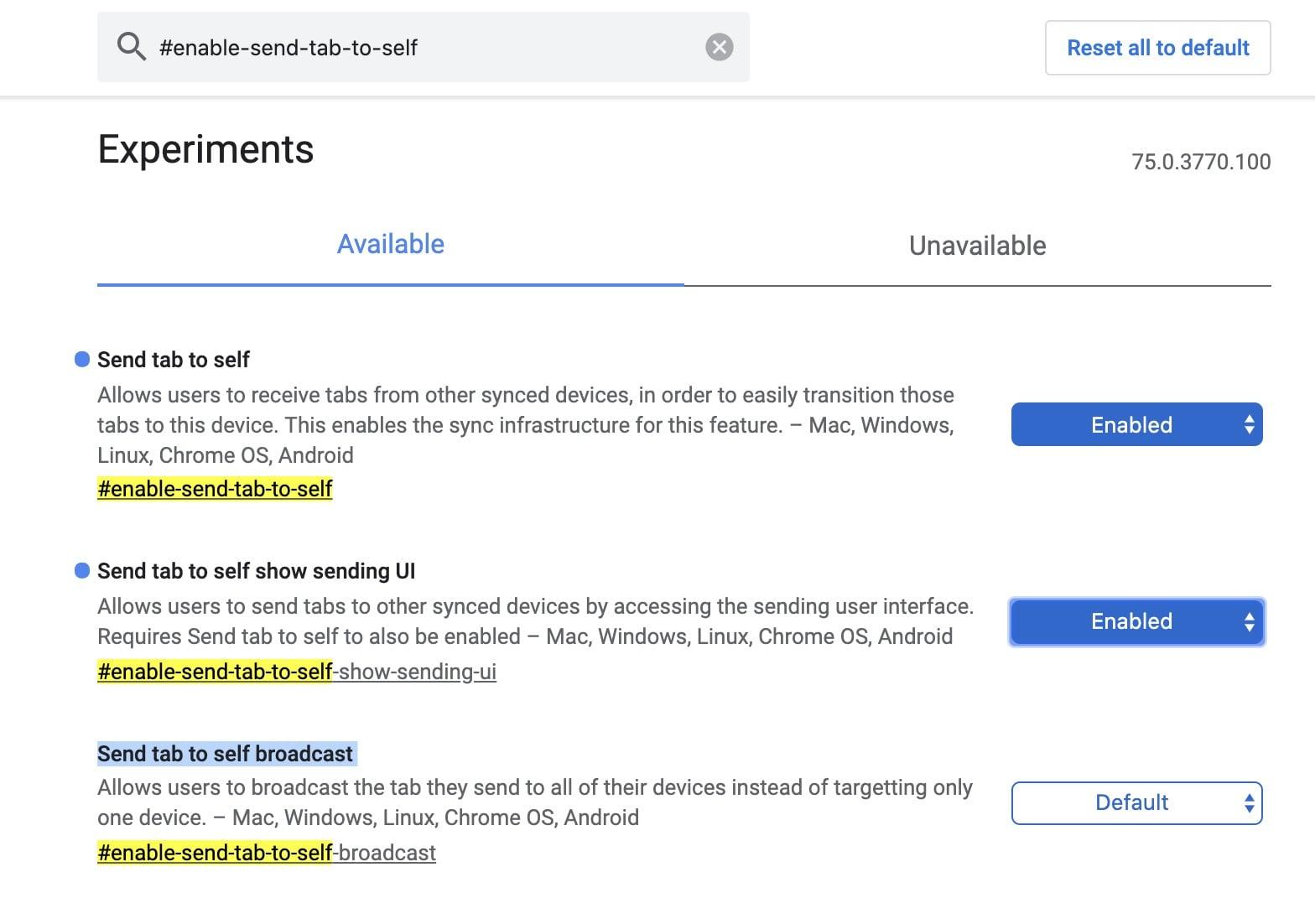 Google Chrome Tabs an Geräte senden, die Rückkehr von Chrome to Phone