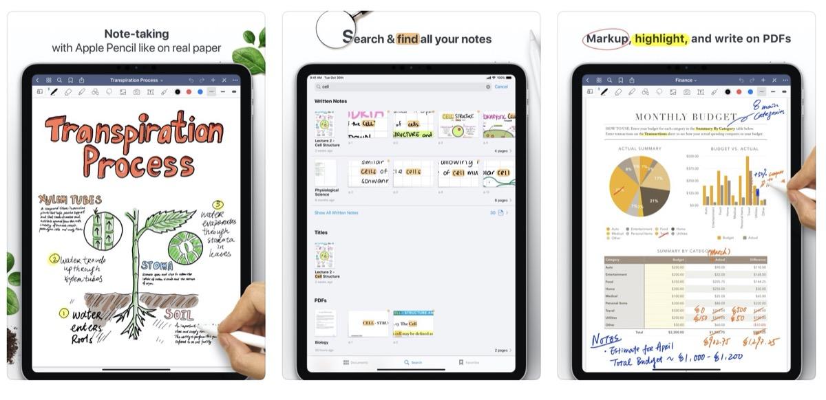 GoodNotes 5 kann jetzt scannen (mit OCR) und unterstützt iPadOS