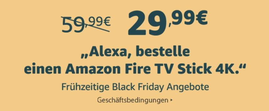 Amazon Hardware Uber Alexa Gunstiger Bestellen Fire Tv Stick 4k Fur 29 99 Euro