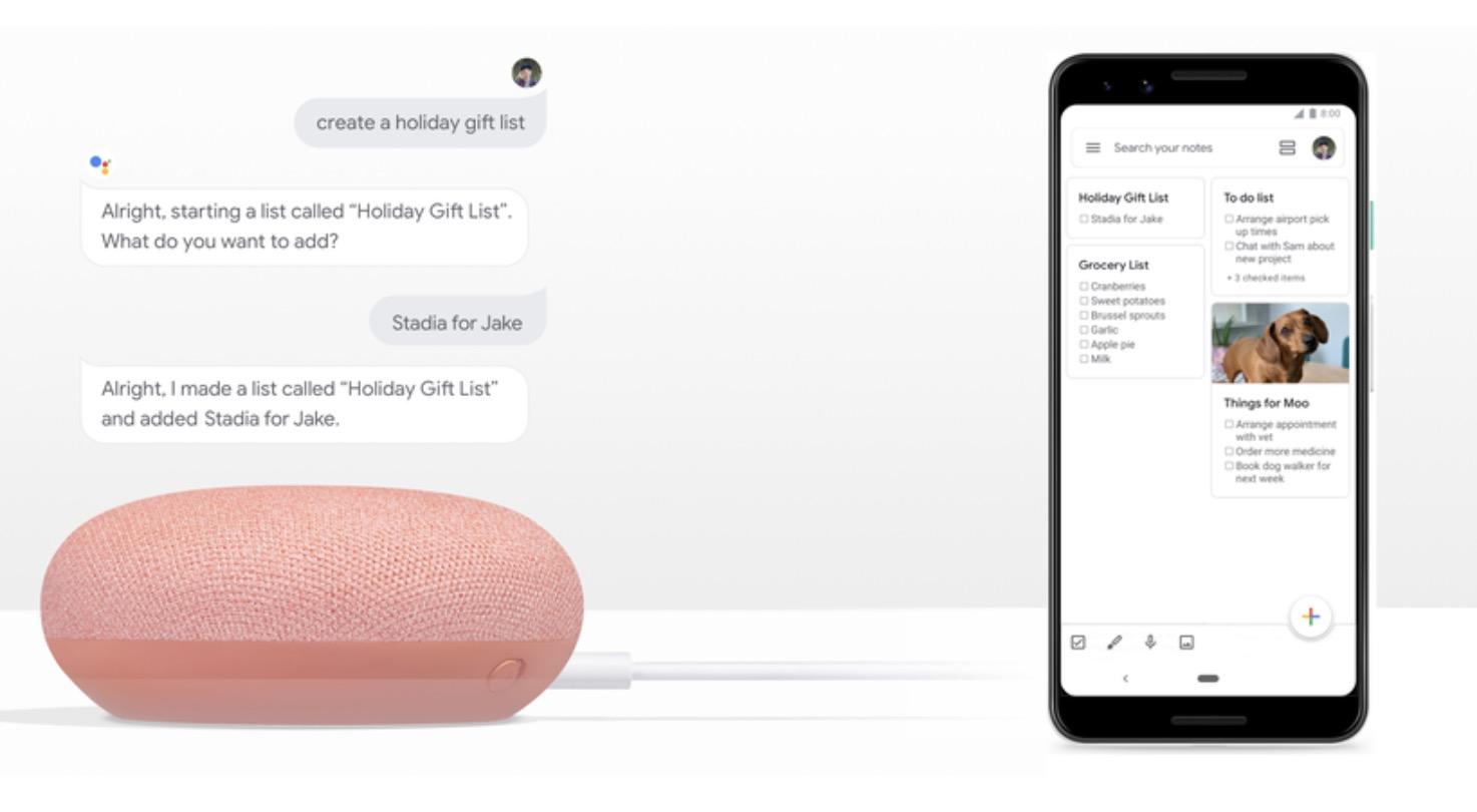 Google Assistant: Kann nun mit Google Notizen, Any.do oder auch Bring! arbeiten