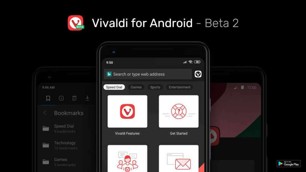 Vivaldi für Android startet mit der Beta 2 durch