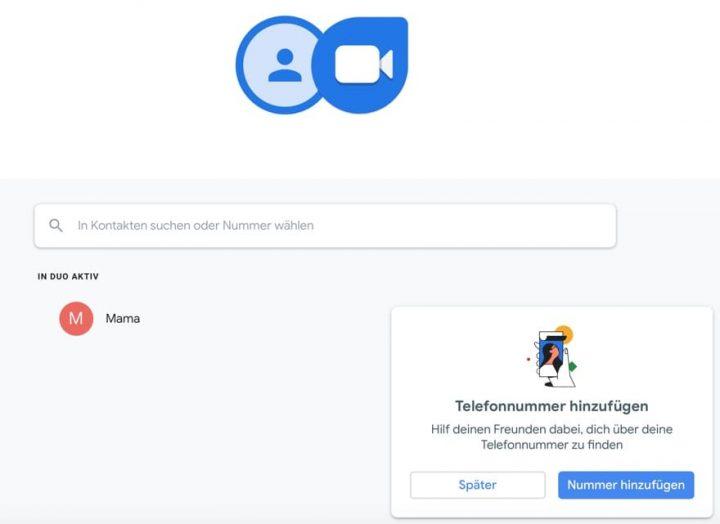 Google Duo: Web-Version lässt nun auch ohne verknüpfte