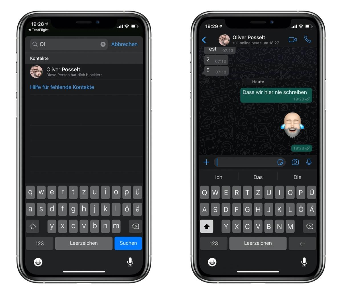 Schreiben sich selbst whatsapp Whatsapp: Genialer