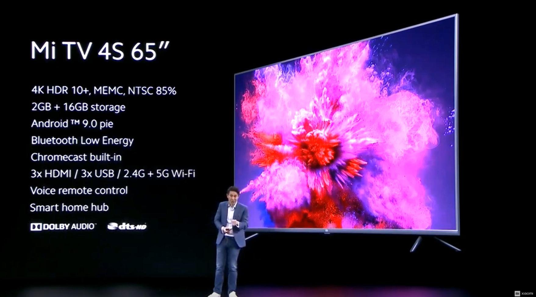 600 Euro: Xiaomi Mi Smart TV 4S mit 65 Zoll startet in Deutschland