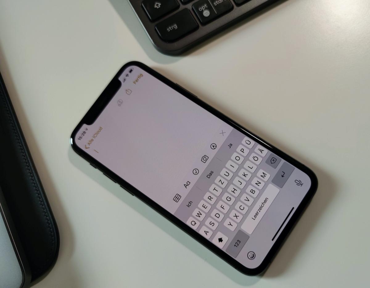 Apple Notizen: Schnell ohne Überschrift notieren