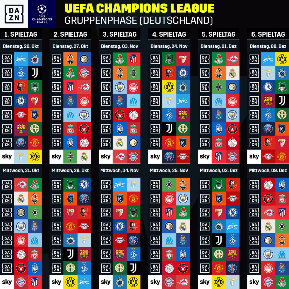 Гјbertragung Champions League