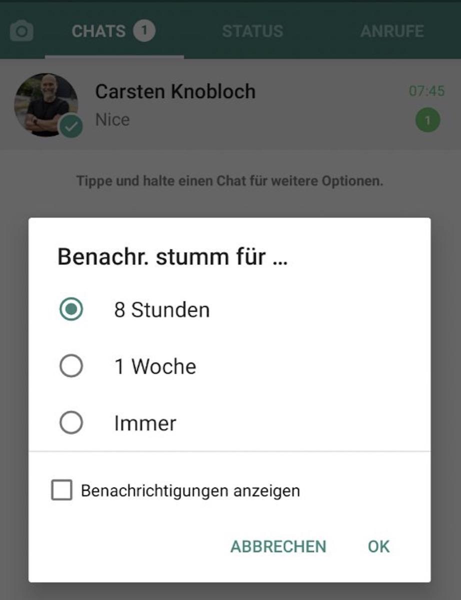 Whatsapp Stumm