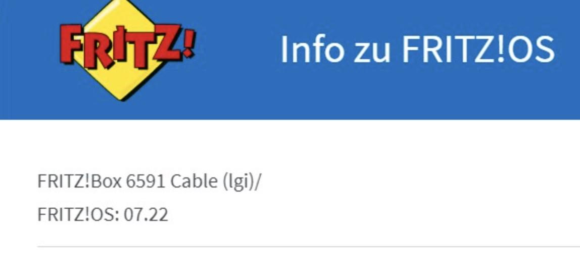 FRITZ!Box 6591: Vodafone testet FRITZ!OS 7.21 und 7.22