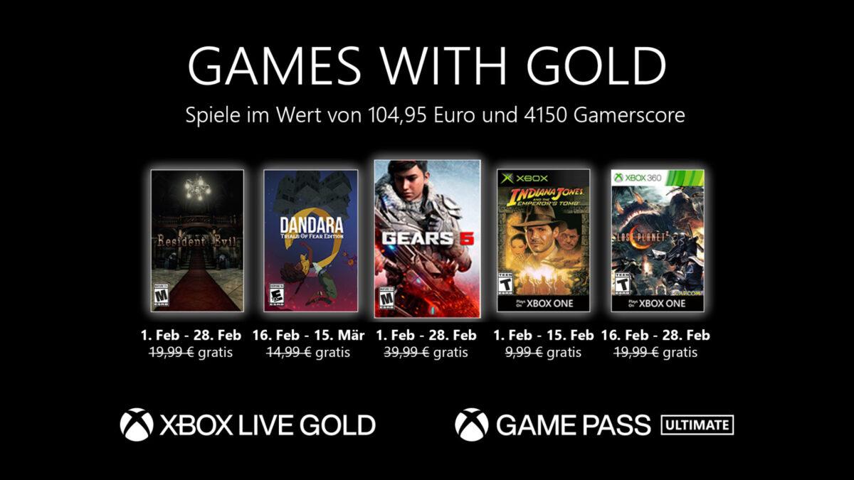 Xbox Games with Gold im Februar 2021: Diese Spiele sind gratis