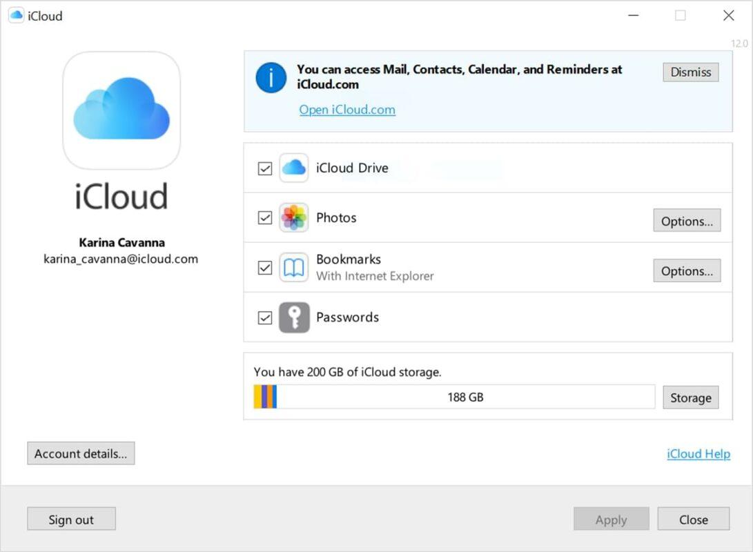 iCloud 12 für Windows bringt Passwörter aus der iCloud zu Chrome