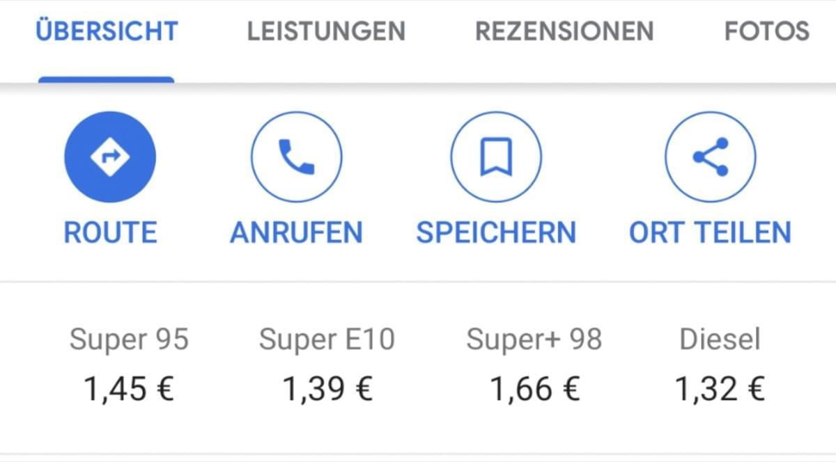 Google Maps: Anzeige der Spritpreise an Tankstellen – teilweise neu, aber ungenau - Caschys Blog