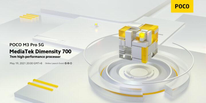Poco M3 Pro 5G: Phone mit dem MediaTek Dimensity 700 wird am 19. Mai 2021 vorgestellt