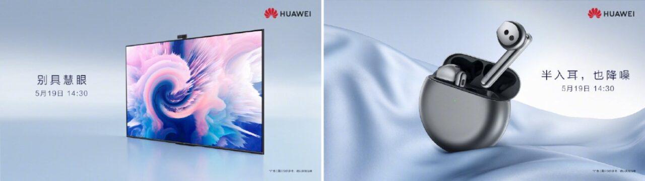 Huawei: Event am 19. Mai mit Ohrhörern, Bildschirmen und Mate-Geräten