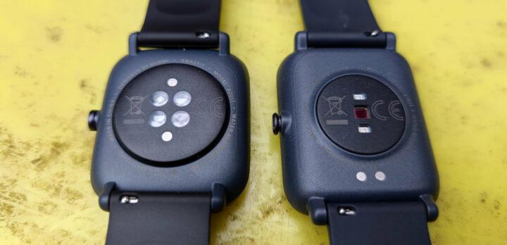Die Bip U (links) bieten mehr Sensoren als dei Bip S (rechts).